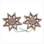 Hvězda pvc/drátek 2ks/8cm šampáň - velkoobchod, dovoz květin, řezané květiny Brno