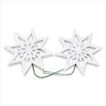Hvězda pvc/drátek 2ks/8cm bílá - velkoobchod, dovoz květin, řezané květiny Brno