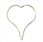 Srdce závěs kov 25cm zlatá - velkoobchod, dovoz květin, řezané květiny Brno