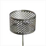 Držák na svíčku kov zápich 7,5cm stříbrná - velkoobchod, dovoz květin, řezané květiny Brno