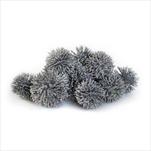 Plody přízdoba vánoční 20ks/3cm stříbrná - velkoobchod, dovoz květin, řezané květiny Brno