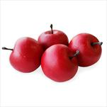 Jablka umělá 4ks/4,5cm červená - velkoobchod, dovoz květin, řezané květiny Brno