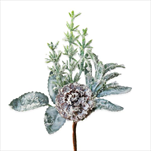 Deko zápich větvička vánoční pvc - velkoobchod, dovoz květin, řezané květiny Brno