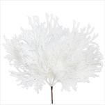 Větev vánoční pvc 6ks/40cm bílá třpytky - velkoobchod, dovoz květin, řezané květiny Brno