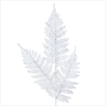 Větev vánoční pvc 70cm bílá třpytky - velkoobchod, dovoz květin, řezané květiny Brno