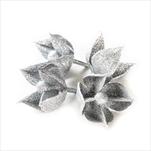 Květ přízdoba pvc 4ks/5cm stříbrná - velkoobchod, dovoz květin, řezané květiny Brno