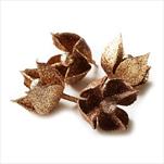 Květ přízdoba pvc 4ks/5cm měděná - velkoobchod, dovoz květin, řezané květiny Brno