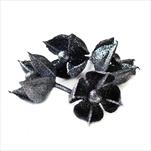 Květ přízdoba pvc 4ks/6cm antracitová - velkoobchod, dovoz květin, řezané květiny Brno
