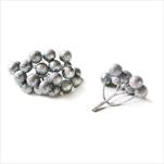 Větvička bobule přízdoba pvc 4ks/6cm stříbrná - velkoobchod, dovoz květin, řezané květiny Brno