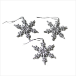 Vločka závěs pvc 3ks/7cm stříbrná - velkoobchod, dovoz květin, řezané květiny Brno