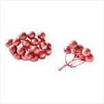 Větvička bobule přízdoba pvc 4ks/6cm červená - velkoobchod, dovoz květin, řezané květiny Brno