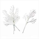 Větvička přízdoba pvc 4ks/13cm bílá - velkoobchod, dovoz květin, řezané květiny Brno