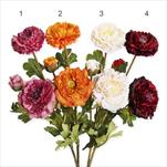Ranunculus umělý 64cm mix - velkoobchod, dovoz květin, řezané květiny Brno