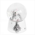 Sněžítko medvídek sádra 6,5cm bílá - velkoobchod, dovoz květin, řezané květiny Brno