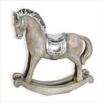 Houpací kůň polyresin 19,5cm stříbrná - velkoobchod, dovoz květin, řezané květiny Brno