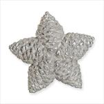 Hvězda šišky 11,5cm bílá - velkoobchod, dovoz květin, řezané květiny Brno