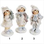 Figurka vánoční polyresin 14cm bílá mix - velkoobchod, dovoz květin, řezané květiny Brno