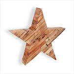 Hvězda dřevo 22cm natural - velkoobchod, dovoz květin, řezané květiny Brno