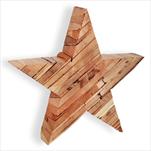 Hvězda dřevo 25cm natural - velkoobchod, dovoz květin, řezané květiny Brno