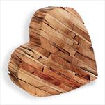 Srdce dřevo 25cm natural - velkoobchod, dovoz květin, řezané květiny Brno