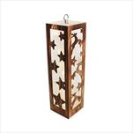 Svícen dřevo LED svítící 35,5 cm natural - velkoobchod, dovoz květin, řezané květiny Brno