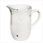 Džbán keramika 19,5cm bílá - velkoobchod, dovoz květin, řezané květiny Brno