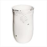 Váza keramika 16,5cm bílá - velkoobchod, dovoz květin, řezané květiny Brno