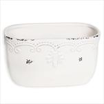 Truhlík keramika 20x11cm bílá - velkoobchod, dovoz květin, řezané květiny Brno