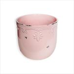 Obal keramika pr.7V6cm růžová - velkoobchod, dovoz květin, řezané květiny Brno
