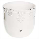 Obal keramika pr.16,8V15,4cm bílá - velkoobchod, dovoz květin, řezané květiny Brno