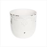 Obal keramika pr.7V6cm bílá - velkoobchod, dovoz květin, řezané květiny Brno