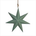 Hvězda dřevo závěs 15cm zelená - velkoobchod, dovoz květin, řezané květiny Brno