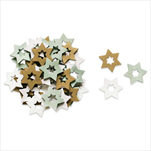 Hvězdy přízdoby dřevo 36ks/3cm mix mint - velkoobchod, dovoz květin, řezané květiny Brno