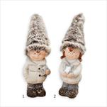 Děti vánoční keramika 15,5cm mix - velkoobchod, dovoz květin, řezané květiny Brno