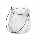 Lucerna sklo/kov pr.10V10cm čirá - velkoobchod, dovoz květin, řezané květiny Brno