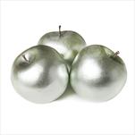 Jablka pvc 6ks/5cm metalická mint - velkoobchod, dovoz květin, řezané květiny Brno