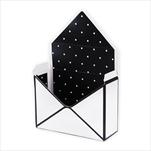 Flower box obálka papír 20x16cm černá/bílá - velkoobchod, dovoz květin, řezané květiny Brno
