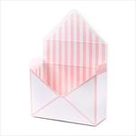 Flower box obálka papír 20x16cm bílá/růžová - velkoobchod, dovoz květin, řezané květiny Brno