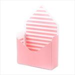 Flower box obálka papír 20x16cm růžová/bílá - velkoobchod, dovoz květin, řezané květiny Brno
