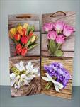 Taška motiv květiny malá - velkoobchod, dovoz květin, řezané květiny Brno