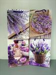 Taška motiv levandule střední - velkoobchod, dovoz květin, řezané květiny Brno