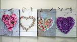 Taška motiv květinové srdce střední - velkoobchod, dovoz květin, řezané květiny Brno