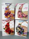 Taška design květinový koš malá - velkoobchod, dovoz květin, řezané květiny Brno