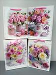 Taška motiv květiny střední - velkoobchod, dovoz květin, řezané květiny Brno