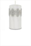 Sv svíčka válec střední bílá Venezia - velkoobchod, dovoz květin, řezané květiny Brno