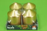 Sv válec 60x80/4ks lak zlatá - velkoobchod, dovoz květin, řezané květiny Brno
