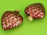Baňka srdce 6x7cm vroubky červená - velkoobchod, dovoz květin, řezané květiny Brno