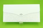 Obálka na peníze Lux bílá - velkoobchod, dovoz květin, řezané květiny Brno