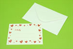 Kartičky do kytice s obálkou 8ks srdíčka - velkoobchod, dovoz květin, řezané květiny Brno