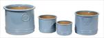 Obal Glazed Flower Cylinder Low blue S4 D20/38H14/32 - velkoobchod, dovoz květin, řezané květiny Brno